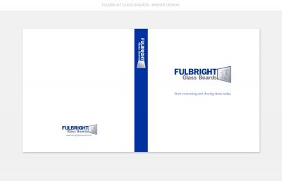 Fulbright Glass Boards Binder Design