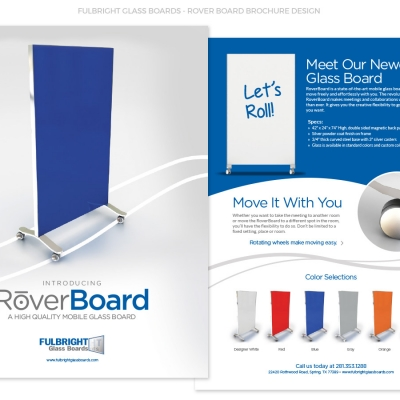 Fulbright Glass Boards RoverBoard™ Brochure Design