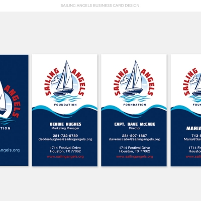 Sailing Angels Business Card Design