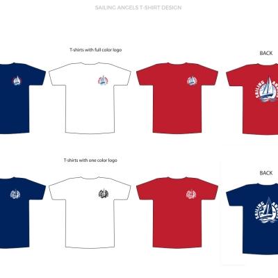 Sailing Angels T-shirt Design
