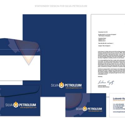 Silva Petroleum Stationery Design