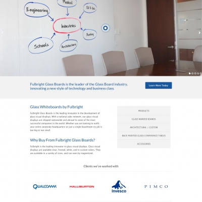fulbright-glass-boards-website-home-page