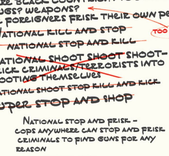 Donald Trump's Speech Notes